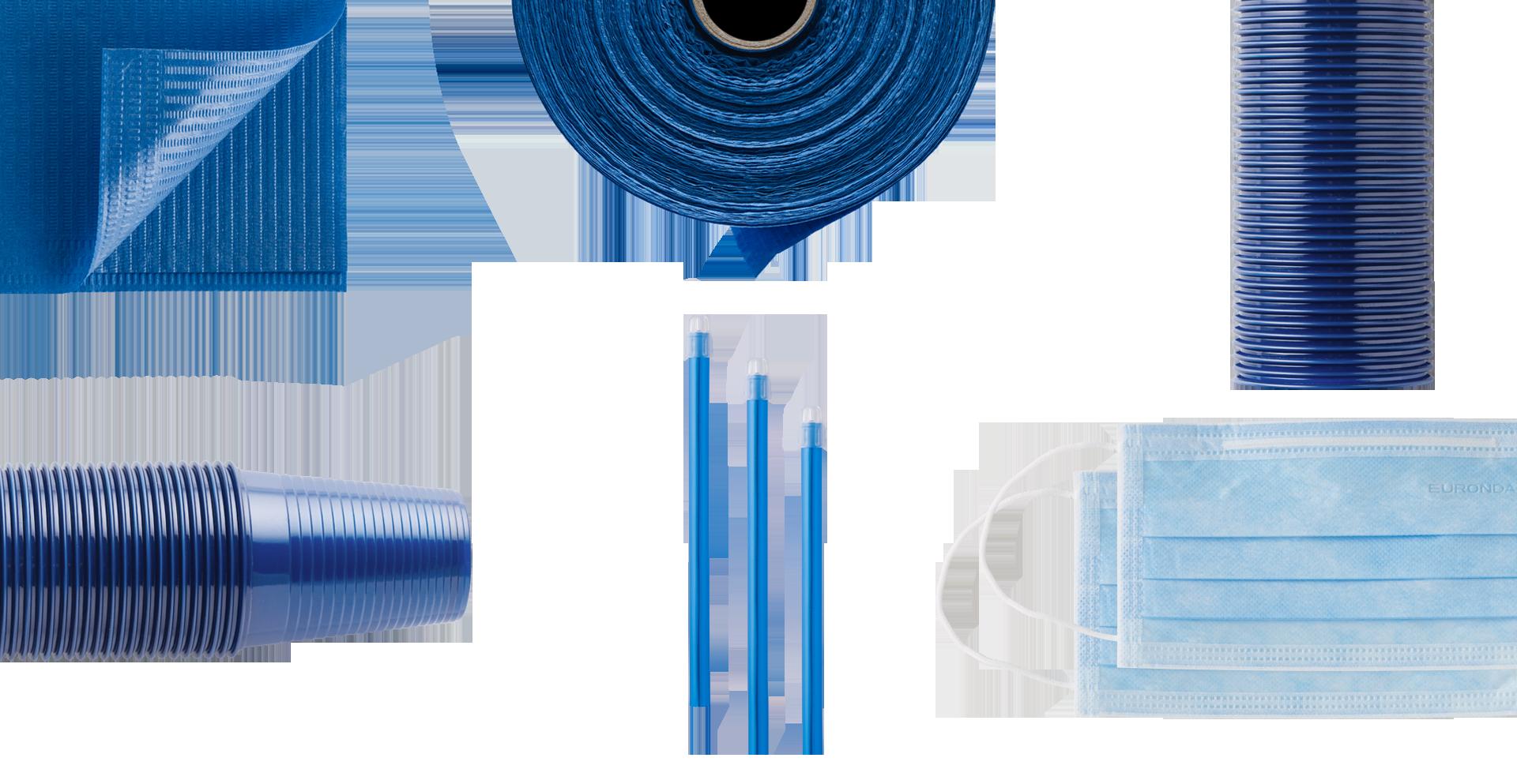 prodotti monouso blu