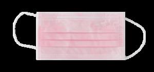 mascherina monouso rosa