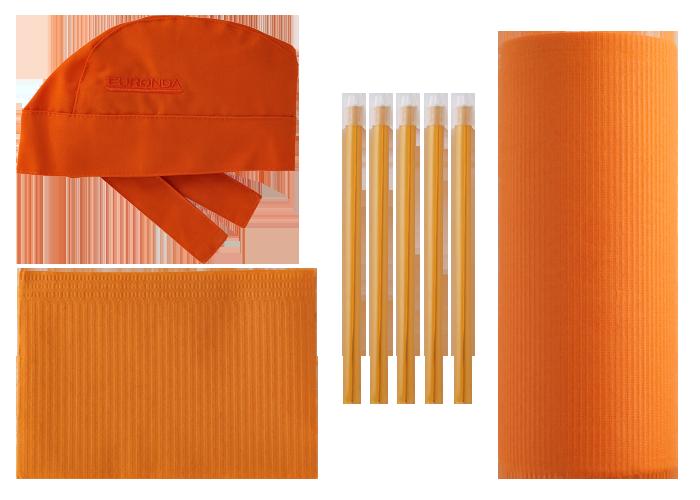 prodotti monouso arancione
