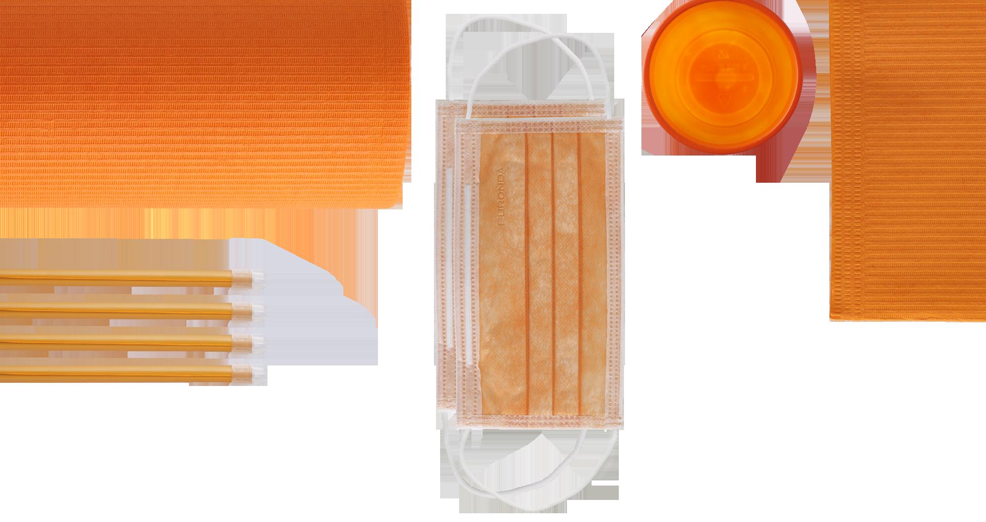 mascherine monouso arancione